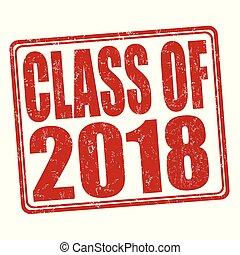 francobollo, classe, 2018