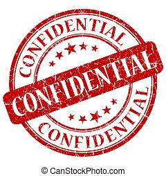 francobollo, confidenziale, rosso