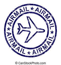 francobollo, consegna, posta, internazionale, posta aerea,...