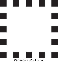 francobollo, cornice, sfondo nero, palo, squadre, trasparente