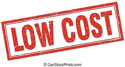 francobollo, costo, quadrato, basso