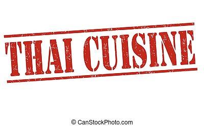 francobollo, cucina, tailandese