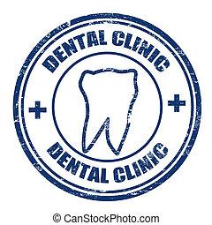 francobollo, dentale, clinica