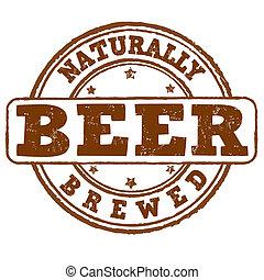francobollo, elaborare, birra, naturally