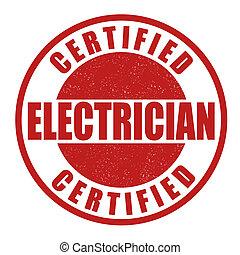 francobollo, elettricista, certificato