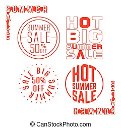 francobollo, estate, vendita