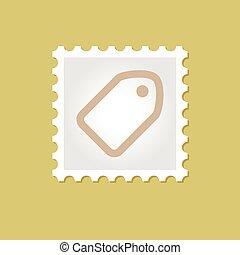 francobollo, etichetta, vettore