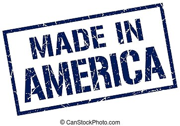 francobollo, fatto, america
