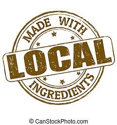 francobollo, fatto, locale, ingredienti