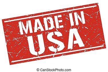 francobollo, fatto, stati uniti