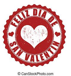 francobollo, felice, giorno, valentine