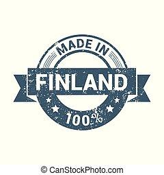 francobollo, finlandia, disegno, vettore
