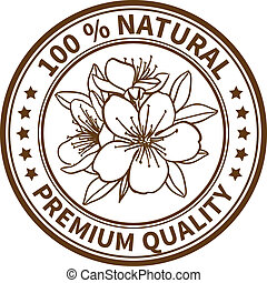 francobollo, fiore, peonia