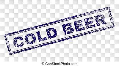 francobollo, freddo, grunge, birra, rettangolo