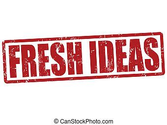 francobollo, fresco, idee