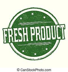 francobollo, fresco, prodotto, o, segno