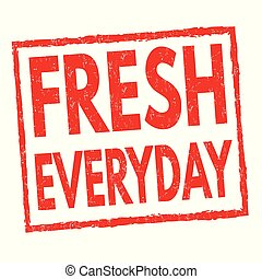 francobollo, fresco, segno, o, ogni giorno