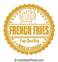 francobollo, frigge, francese