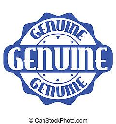 francobollo, genuino, o, etichetta