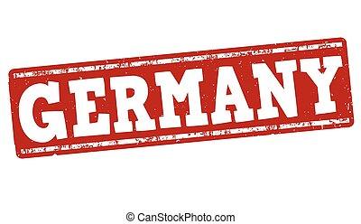 francobollo, germania, grunge