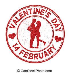 francobollo, giorno, valentine