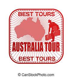 francobollo, giro, australia