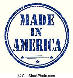 francobollo, gomma, fatto, grunge, america