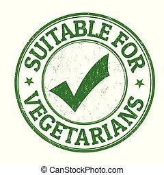 francobollo, gomma, suitable, grunge, vegetariani