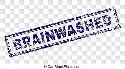 francobollo, grunge, brainwashed, rettangolo
