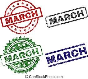 francobollo, grunge, textured, marzo, sigilli