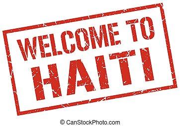 francobollo, haiti, benvenuto
