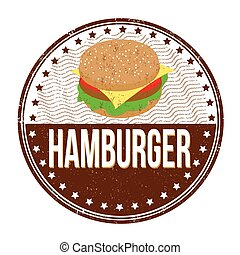 francobollo, hamburger