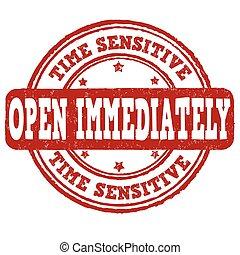 francobollo, immediatamente, aperto, sensibile, tempo