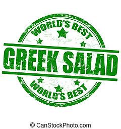 francobollo, insalata greca