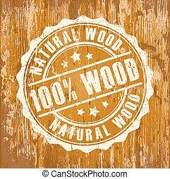 francobollo, legno, naturale