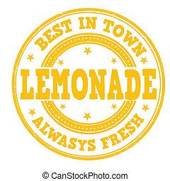 francobollo, limonata