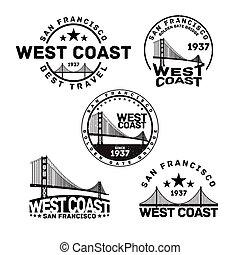 francobollo, logotipo, francisco, san