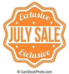 francobollo, luglio, vendita