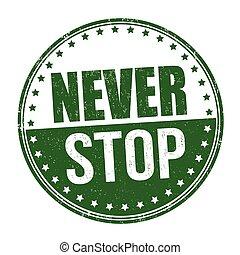 francobollo, mai, fermata, o, segno