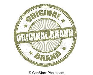 francobollo, marca, originale