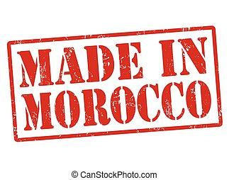 francobollo, marocco, fatto