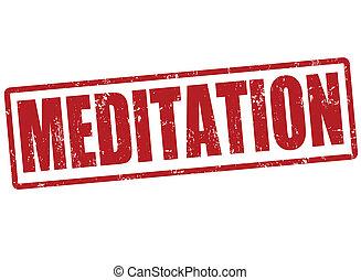 francobollo, meditazione