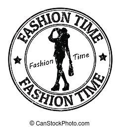 francobollo, moda, tempo