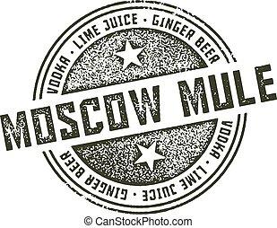 francobollo, mosca, cocktail, mulo
