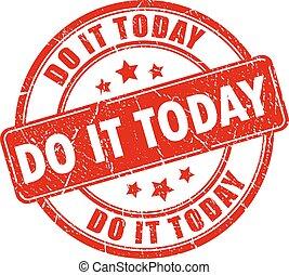 francobollo, motivazionale, esso, oggi