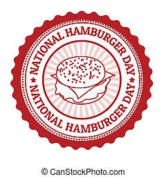 francobollo, nazionale, hamburger, giorno