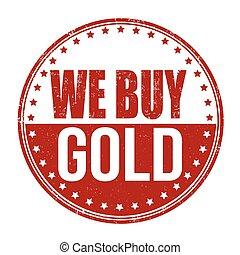 francobollo, noi, comprare, oro