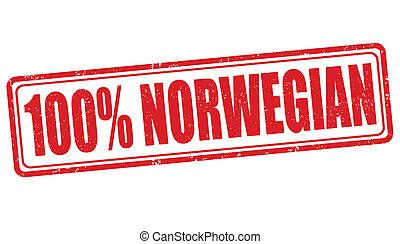 francobollo, norvegese, 100 percento