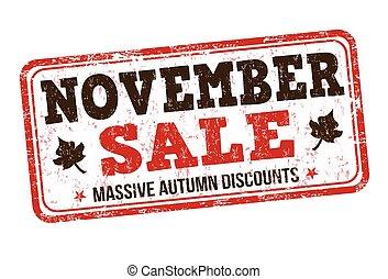 francobollo, novembre, vendita