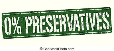 francobollo, o, 0%, conservanti, segno